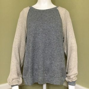 Inspired Hearts Long Sleeve 2 Tone Sweater, sz M